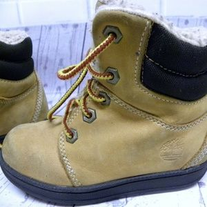 Timberland Toddler Tan Hi Top Lace Up Boots Size 9